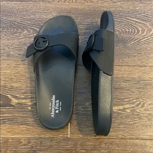 Abercrombie and Fitch slide style sandals